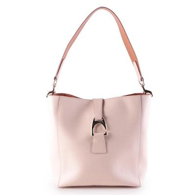 Dooney & Bourke Ashby Bucket Bag in Blush Saffiano Leather