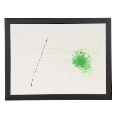 "Joan Miró Color Lithographic Print ""Vert"" for ""Derrière le Miroir,"" 1971"