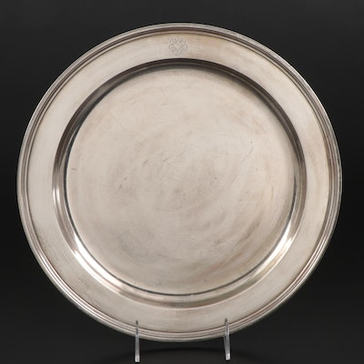 Tiffany & Co. Sterling Silver Charger Plate, Early to Mid 20th Century