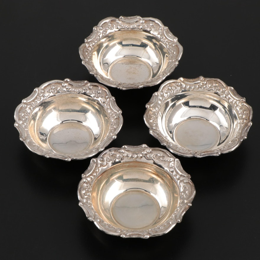 American Silver Plate Nut Dishes, Mid-20th Century