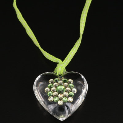 Tarina Tarantino Heart Necklace with Rhinestone Accents