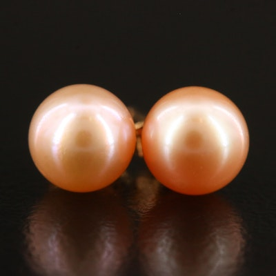 14K Pearl Stud Earrings