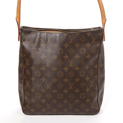 Louis Vuitton Looping GM Bag in Monogram Canvas and Vachetta Leather