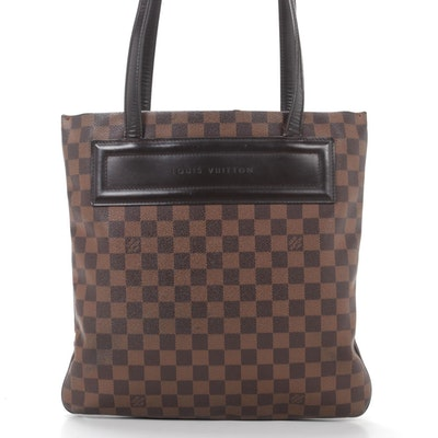Louis Vuitton Clifton Tote in Damier Ebene Canvas and Leather