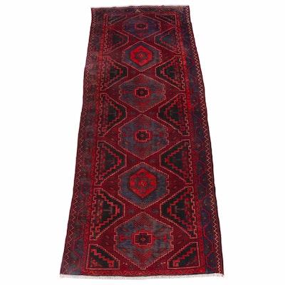 4'10 x 12'10 Hand-Knotted Persian Hamadan Wool Long Rug