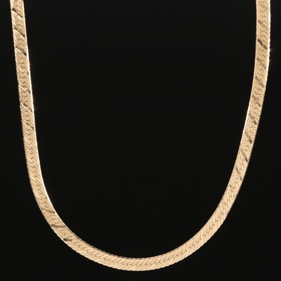 Milor 14K Herringbone Chain Necklace