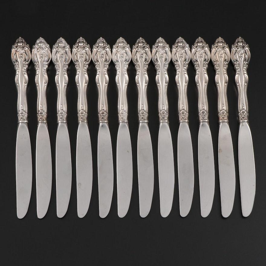"""Gorham """"La Scala"""" Sterling Silver Dinner Knives Designed by Peter C. Gavette"""