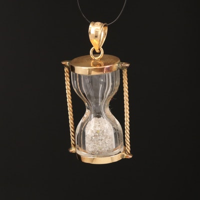 10K Hourglass Pendant