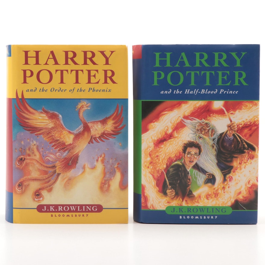 """First UK Edition """"Harry Potter and the Half-Blood Prince"""" by Rowling and More"""