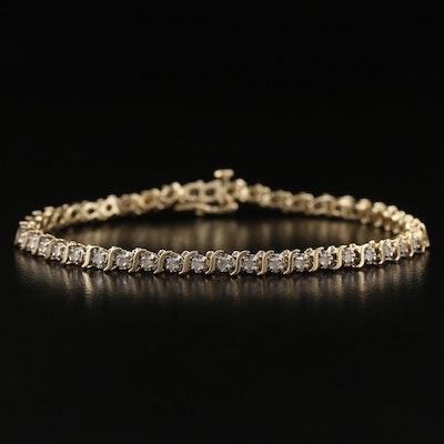 10K 1.15 CTW Diamond Link Bracelet