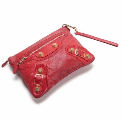 Balenciaga Clutch in Red Leather
