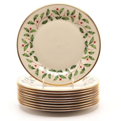 "Lenox ""Holiday"" Porcelain Dinner Plates"