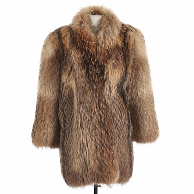 Tanuki Fur Coat from Manor Furs of Chicago