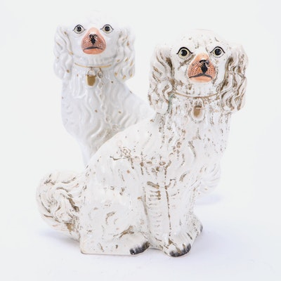 Staffordshire Style Spaniel Figurines