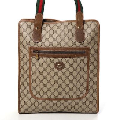 Gucci Accessory Collection Web Strap Tote in GG Supreme Canvas and Leather