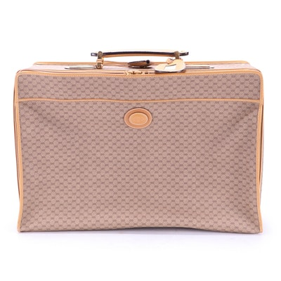 Gucci Suitcase in Micro GG Coated Canvas and Leather