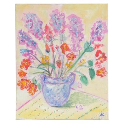Laura Cousineau Floral Still Life Oil Painting, 2020