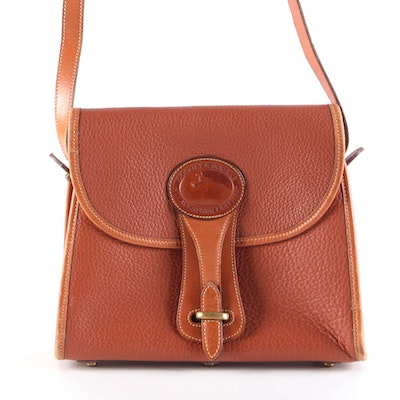 Dooney & Bourke British Tan All-Weather Leather Small Essex Bag