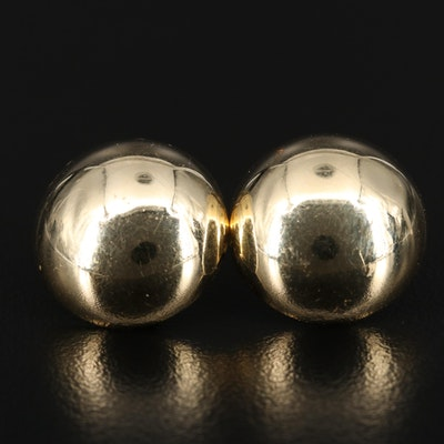 14K Button Earrings