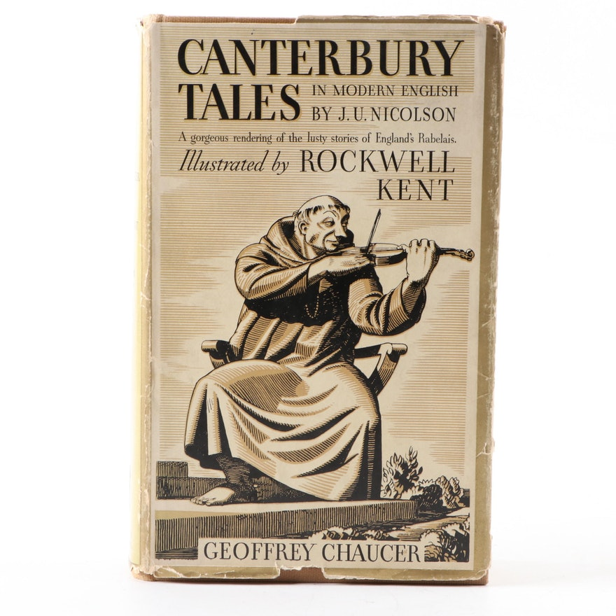 "Rockwell Kent Illustrated ""Canterbury Tales"" by Geoffrey Chaucer, 1934"
