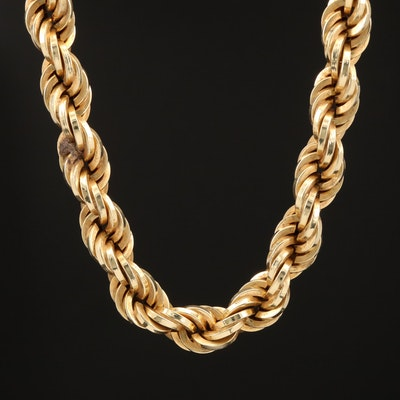 UnoAErre 14K Rope Chain Necklace