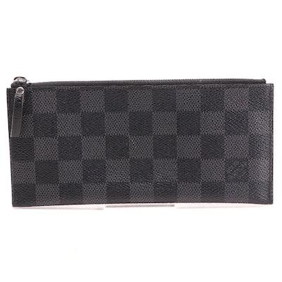Louis Vuitton Portefeuille Long Modular Insert in Damier Graphite Canvas