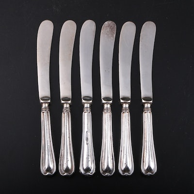 Henry Williamson Ltd. Sterling Silver Handle Butter Knives, 1921