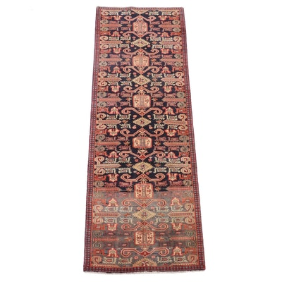 3'1 x 9'5 Hand-Knotted Caucasian Kuba Wool Carpet Runner