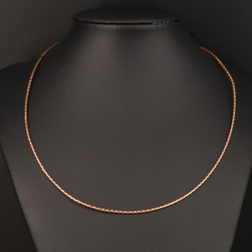 14K Woven Mesh Necklace