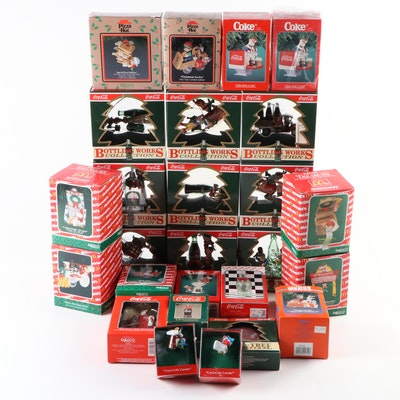 Christmas Tree Ornaments Including Coca-Cola and McDonald's, 1989–1996