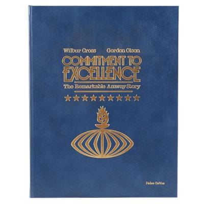 """First Printing """"Commitment to Excellence: The Remarkable Amway Story,"""" 1986"""