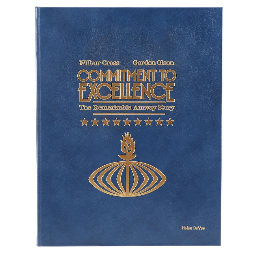 "First Printing ""Commitment to Excellence: The Remarkable Amway Story,"" 1986"
