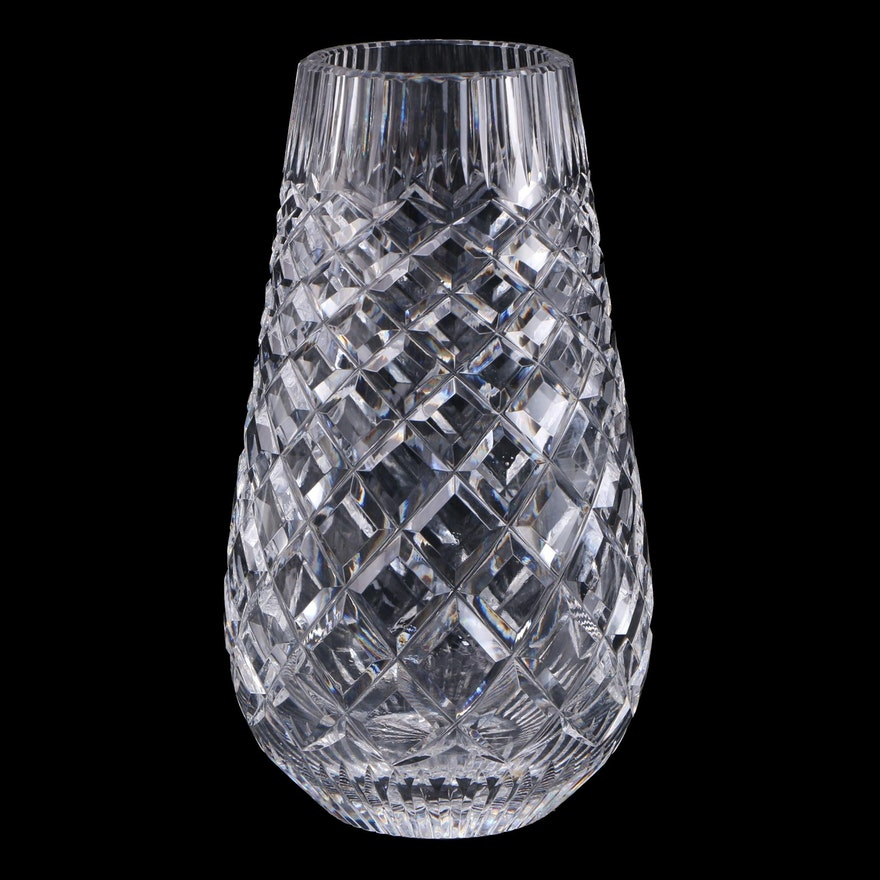 Waterford Crystal Flower Vase, Late 20th Century