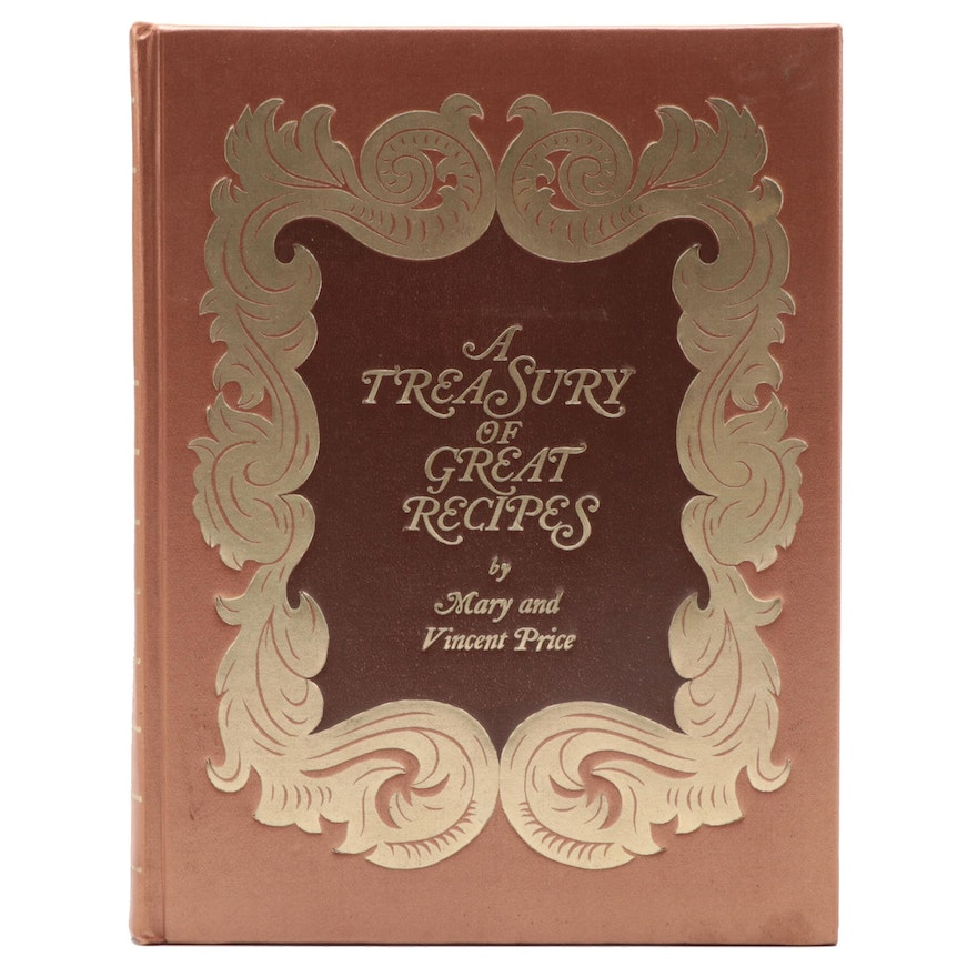 """Illustrated """"A Treasury of Great Recipes"""" by Mary and Vincent Price, 1974"""