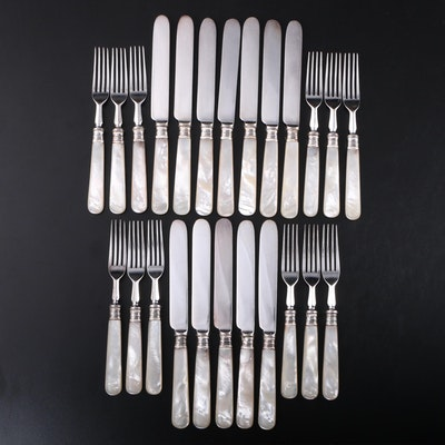 Mother-of-Pearl Handled Forks and Knives, Early 20th Century