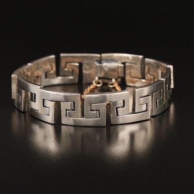 Mexican Sterling C Link Bracelet