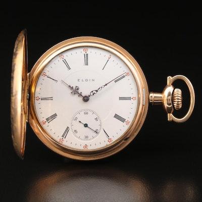 1912 Elgin Gold Filled Hunting Case Pocket Watch