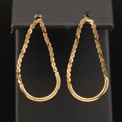 Serpentine Chain Drop Earrings