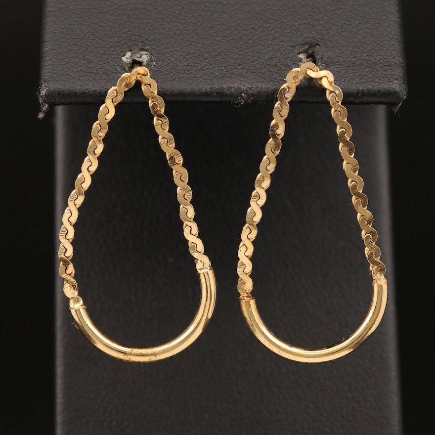 Serpentine Chain Drop Earrings