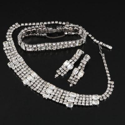 Vintage Rhinestone Jewelry Set