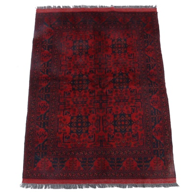 5'1 x 7'4 Hand-Knotted Afghani Kunduz Wool Rug