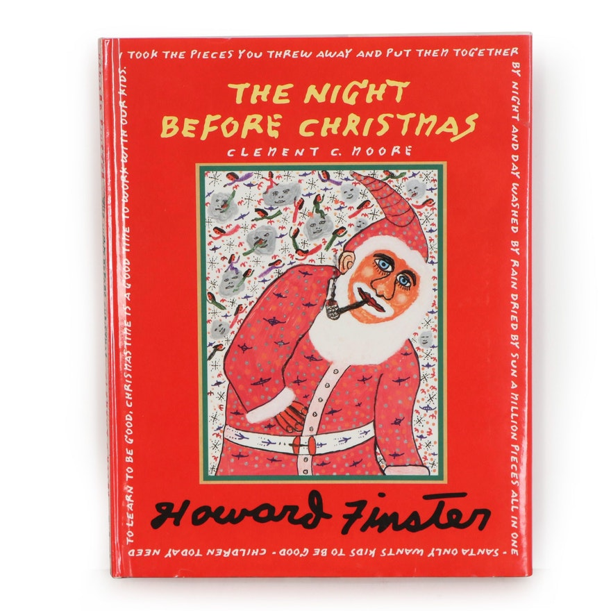 """Howard Finster 1996 """"The Night Before Christmas"""" by Clement C. Moore"""