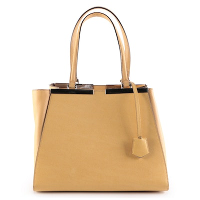 Fendi Petite 3Jours Tote Bag in Yellow Leather