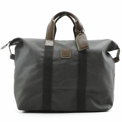 Alfred Dunhill Coated Canvas and Leather Weekender Duffle Bag