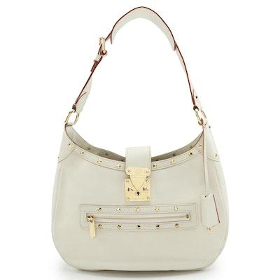 Louis Vuitton L'Affriolant White Suhali Leather Hobo Bag