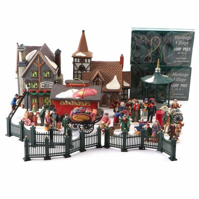 """Heritage Village Collection """"Dickens' Village Series"""" Buildings and More"""
