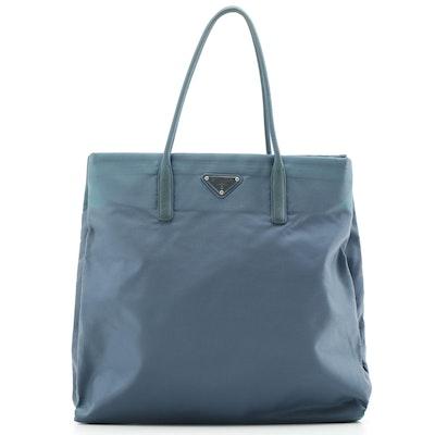 Prada Tessuto Basic Tote Bag in Turquoise Nylon