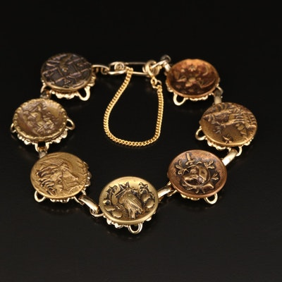 Animal Button Link Bracelet