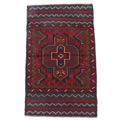 2'9 x 4'7 Hand-Knotted Afghani Baluch Wool Tribal Rug