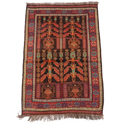 3'11 x 6'2 Hand-Knotted Northwest Persian Wool Rug